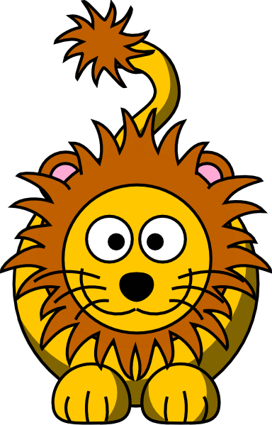 384x599 Cartoon Golden Lion Clip Art