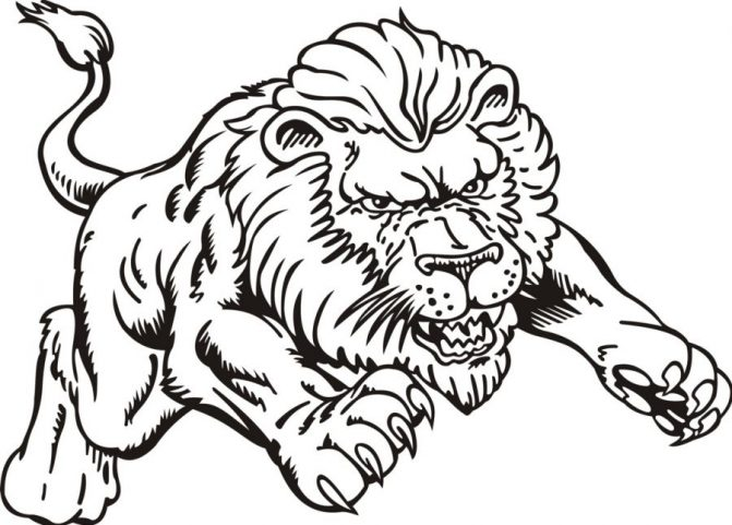 Lion Coloring Pages Free download on ClipArtMag