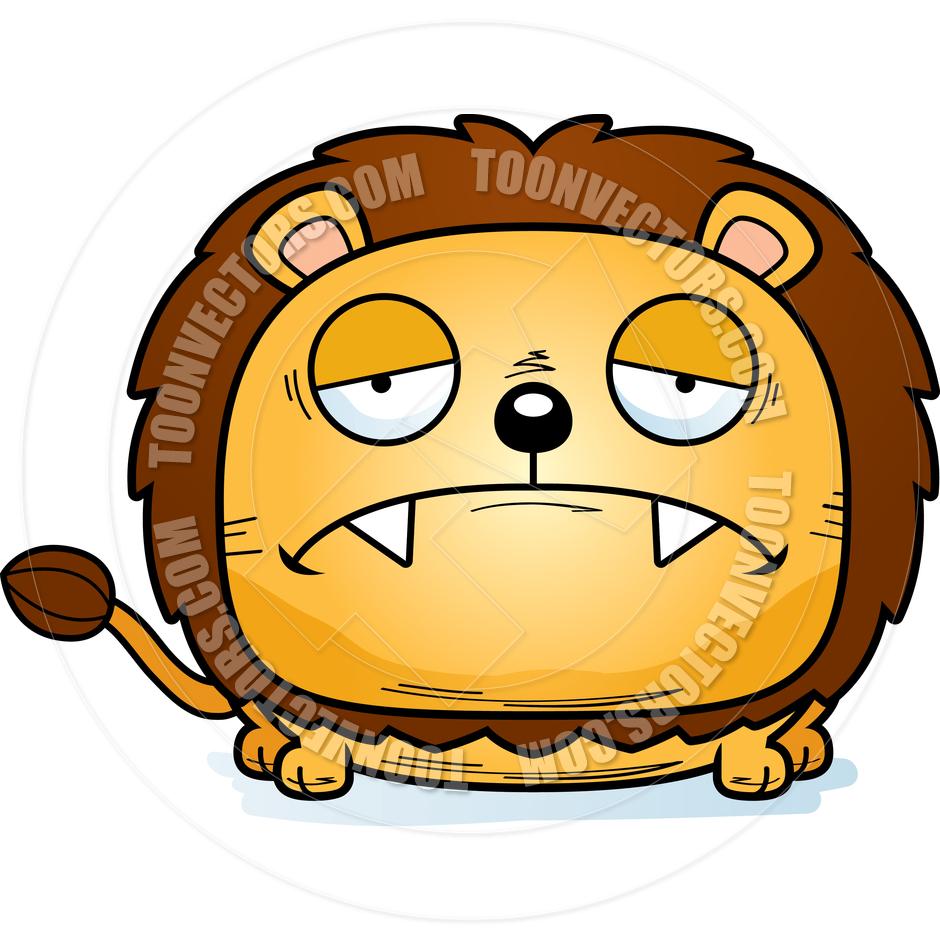 940x940 Cartoon Lion Cub Sad By Cory Thoman Toon Vectors Eps