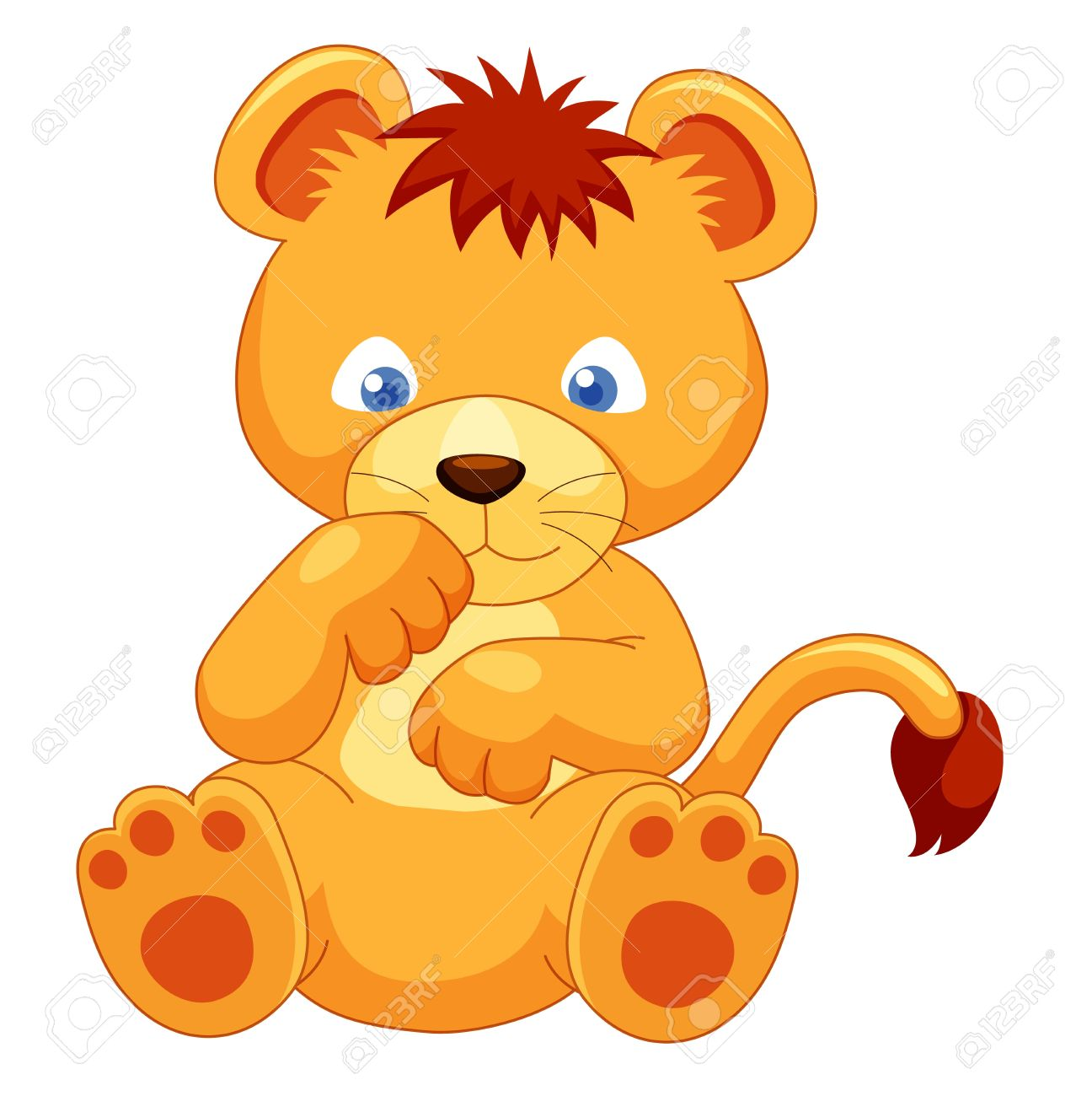 1296x1300 Cute Lion Cub Vector Royalty Free Cliparts, Vectors, And Stock