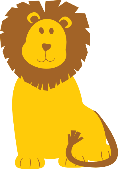414x592 Free Baby Lion Clipart Image