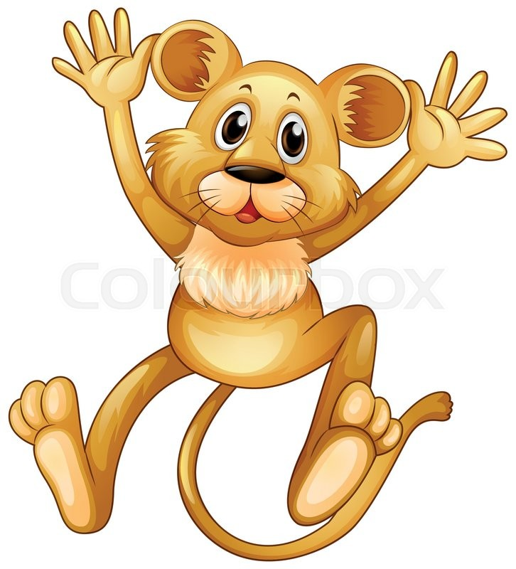 726x800 Lion Cub Jumping Up Illustration Stock Vector Colourbox