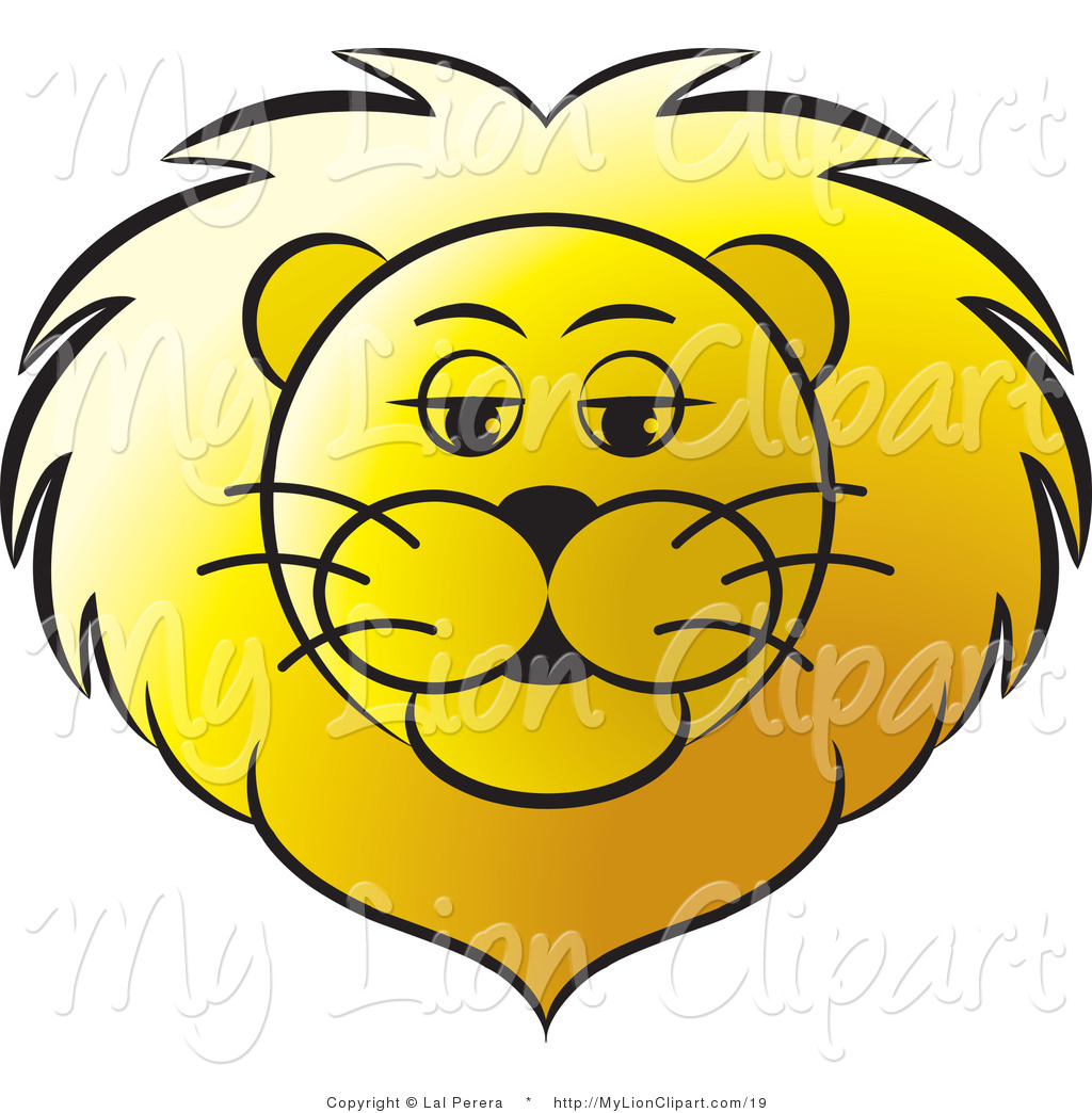 1024x1044 Vector Clipart Of A Golden Lion Face By Lal Perera