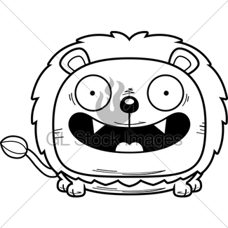 325x325 Cartoon Happy Lion Cub Gl Stock Images