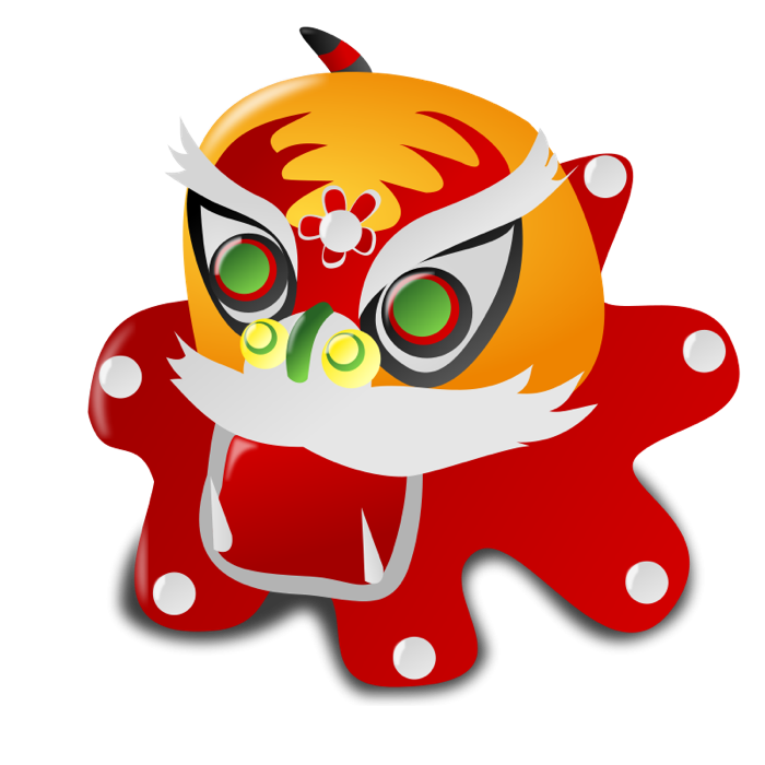 700x700 Chinese New Year Dragon Clipart