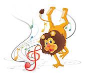 170x151 Lion Dance Clip Art