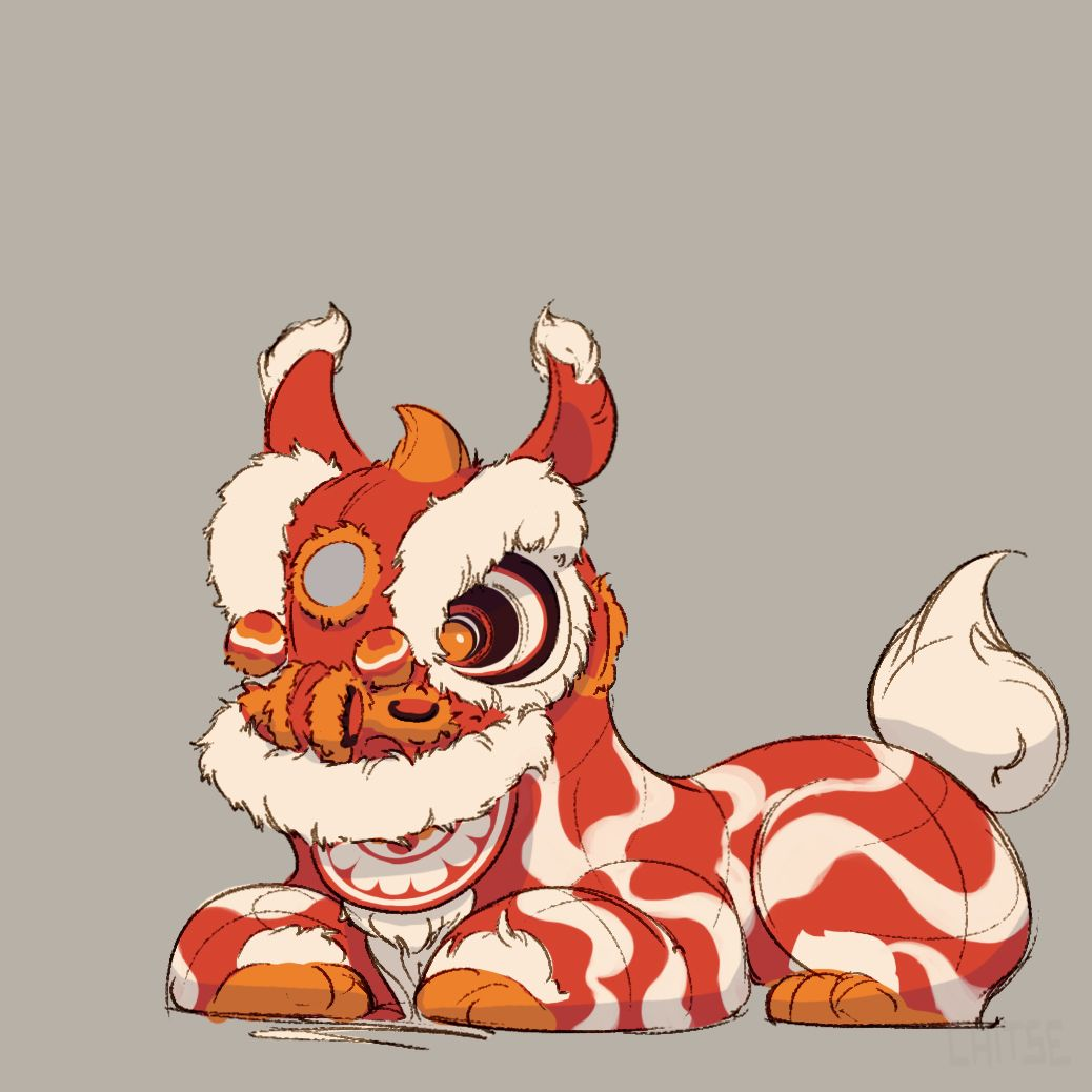 1038x1038 The Seventh Lion, Character Design That Depicts The Chinese