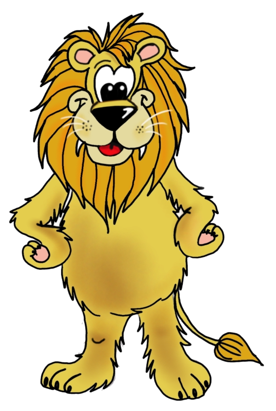 560x835 Free Clipart Lions