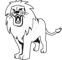216x210 White Lion Clipart Lion's Den