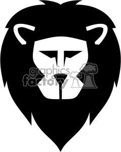 239x299 Easy Lion Head Clipart