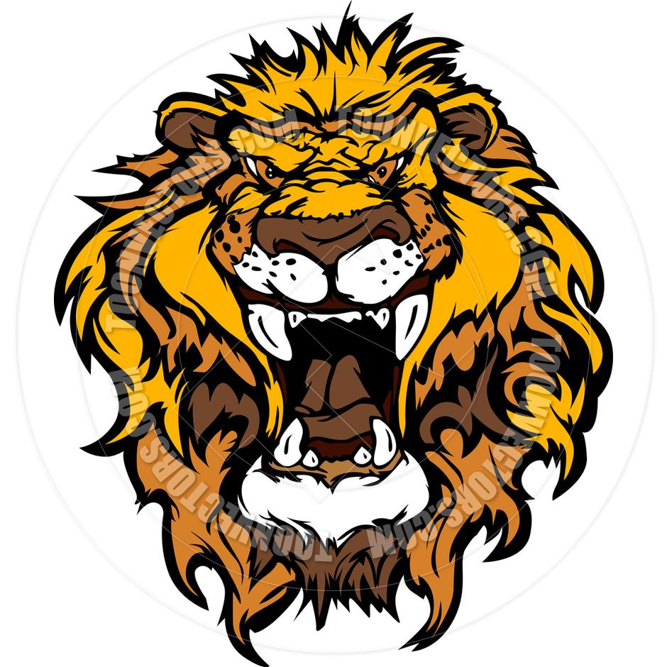 940x940 Lion Head Cartoon Illustration By Chromaco Toon Vectors Eps