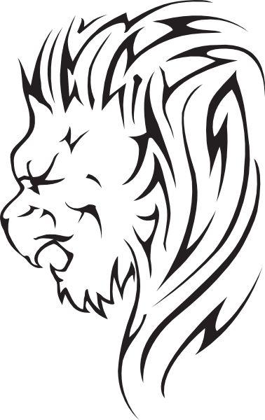 378x600 Lion Head Clipart