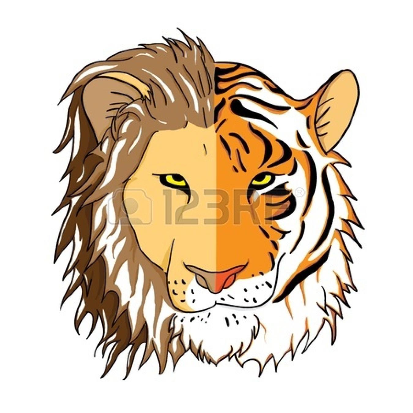 1350x1350 Tiger Face Clipart
