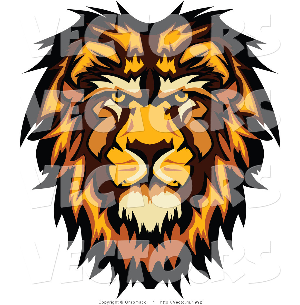 1024x1044 Vector Of A Profiled Cartoon Male Lion Mascot By Chromaco