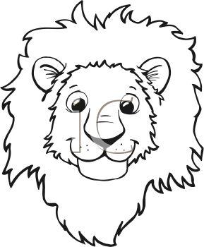 289x350 White Lion Clipart Simple Cartoon