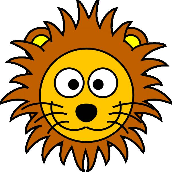 600x600 Cartoon Golden Lion 2 Clip Art