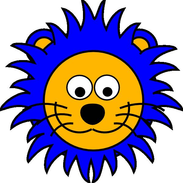600x600 Cartoon Lion Face Clip Art