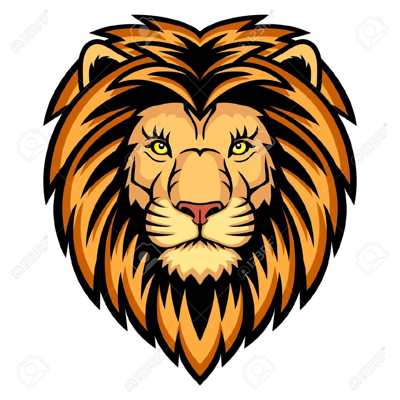1300x1300 Lion Face Clip Art