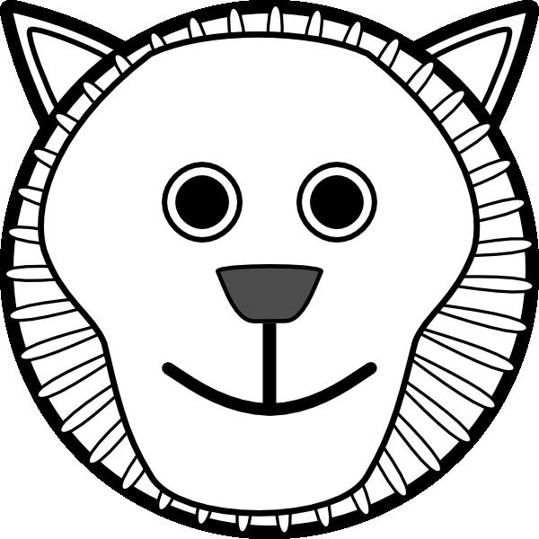 600x600 Lion Face Clip Art