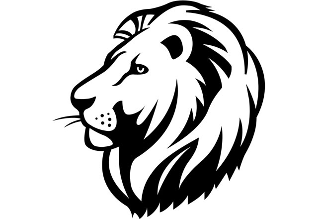 640x440 Lion Face Clipart Black And White Letters Example