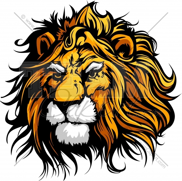 590x588 Lion Mascot Clipart Image. Easy To Edit Vector Format.