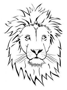 236x315 Lion Outline Clip Art