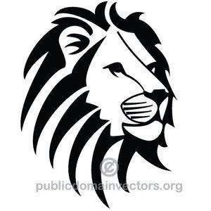 300x300 7891 Lion Head Silhouette Clip Art Public Domain Vectors