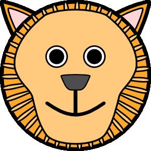 300x300 Round Lion Face Clip Art Clipart Panda
