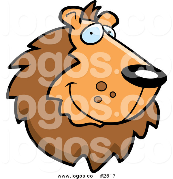 600x620 Royalty Free Smiling Lion Face Logo By Cory Thoman