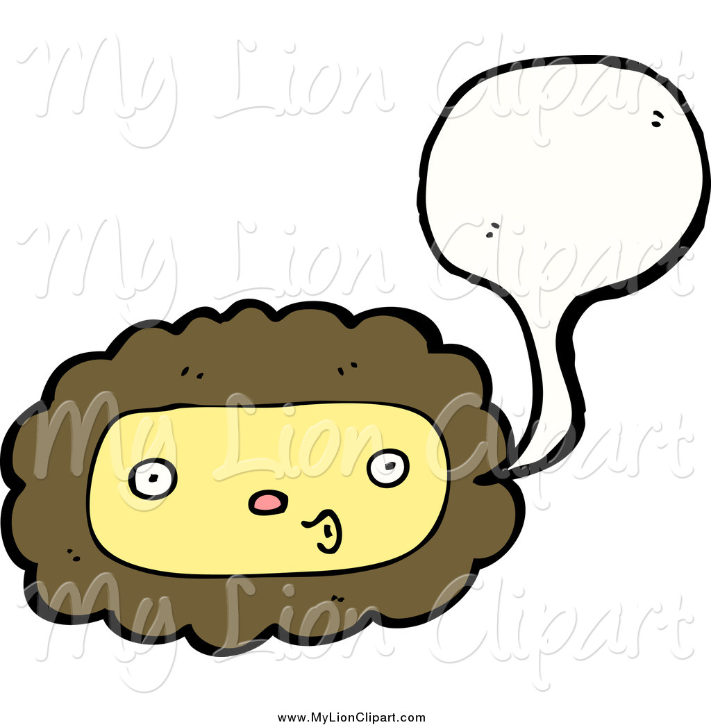 1024x1044 Clipart Of A Talking Lion Face By Lineartestpilot