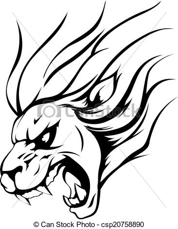 366x470 Graphic Clipart Lion Angry