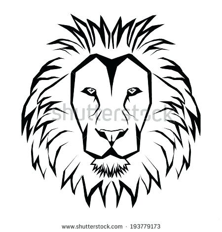 450x470 Lion Drawing Outline Lion Black White Lion Clip Art Black