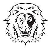 170x164 Lion Face Tribal Clip Art