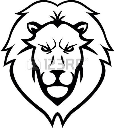 403x450 Lion Head Illustration Design Royalty Free Cliparts, Vectors,