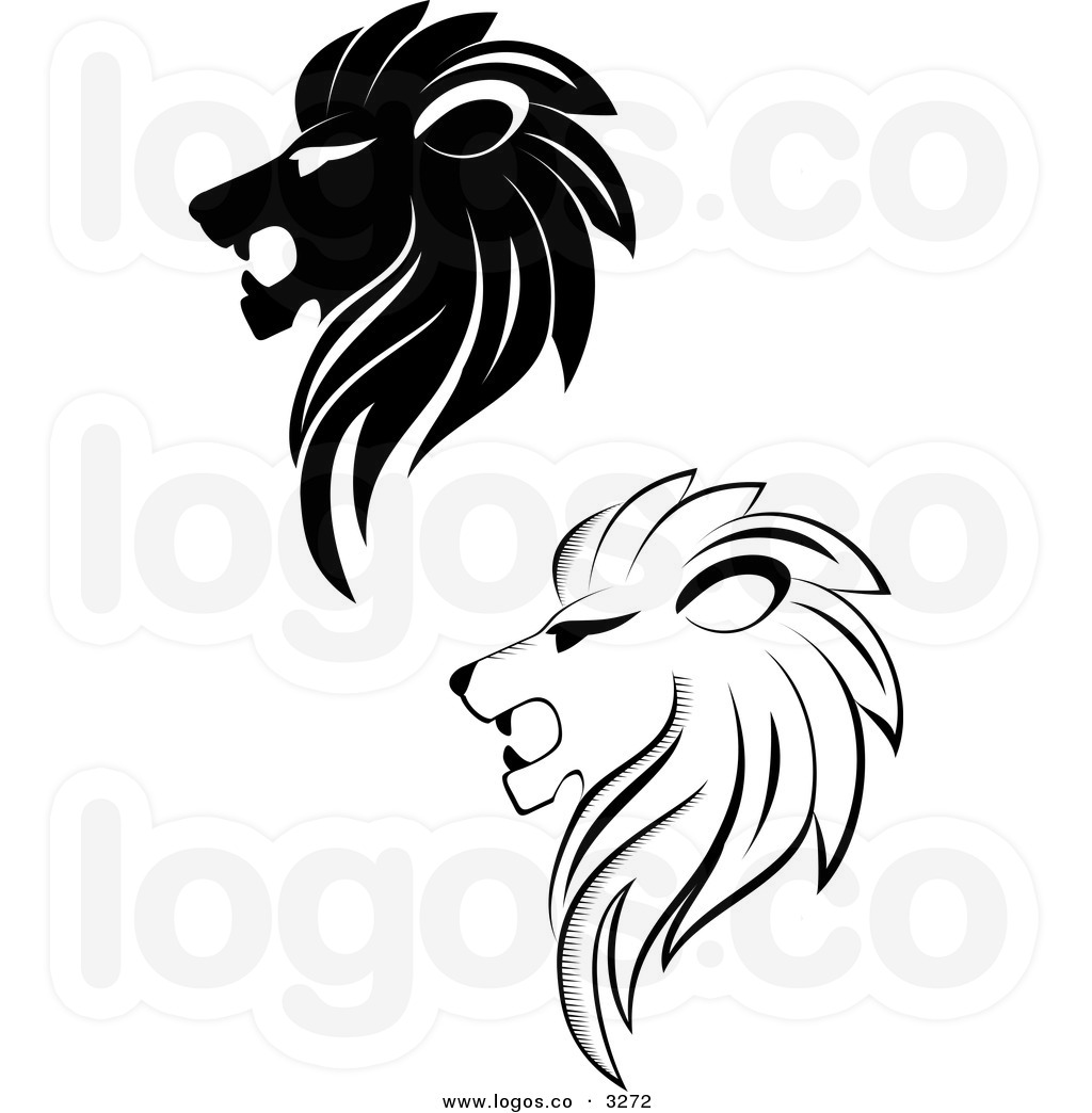 1024x1044 Lion Head Profile Royalty Free Vector Of Black And White Lion