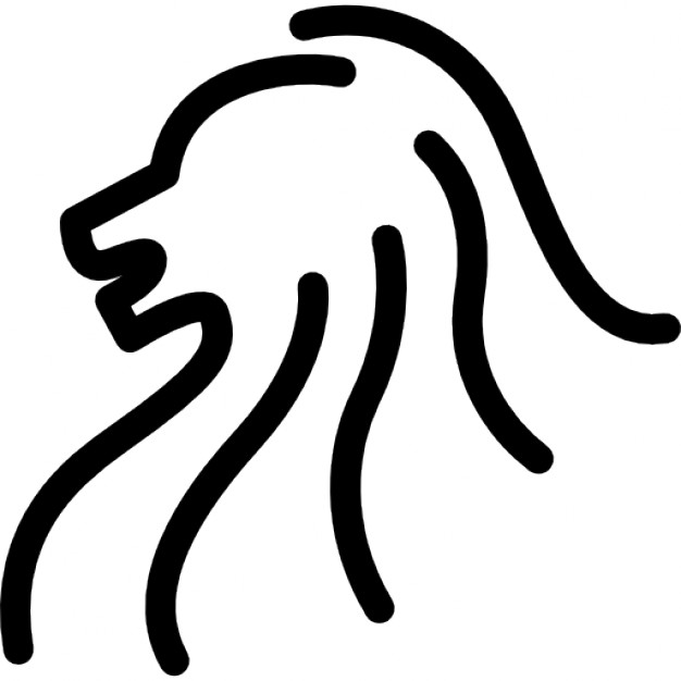 626x626 Lion Head Side View Outline Icons Free Download