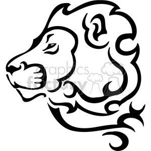 300x300 Royalty Free Wild Lion Design 090 385457 Vector Clip Art Image