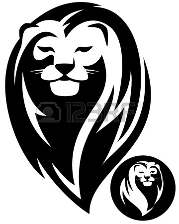 360x450 Vector Image Of An Lion Head On White Background Royalty Free