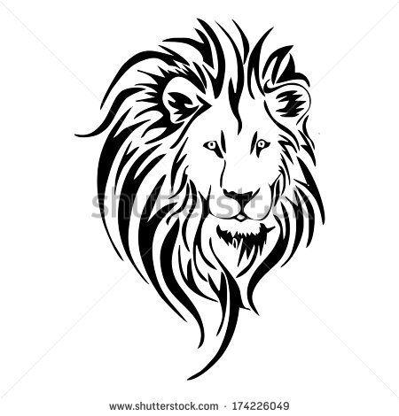450x470 White Lion Clipart Lion Head