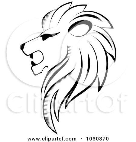450x470 White Lion Clipart Vector