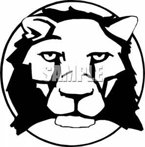 297x300 Black Ad White Lion Head Clipart