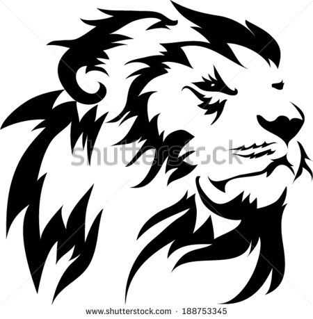 450x459 37 Best Lion Silhouette Tattoo Small Images Lion