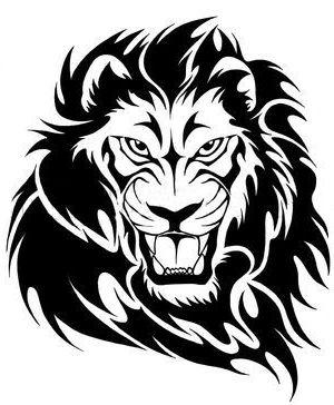 300x364 Drawn Face Lion