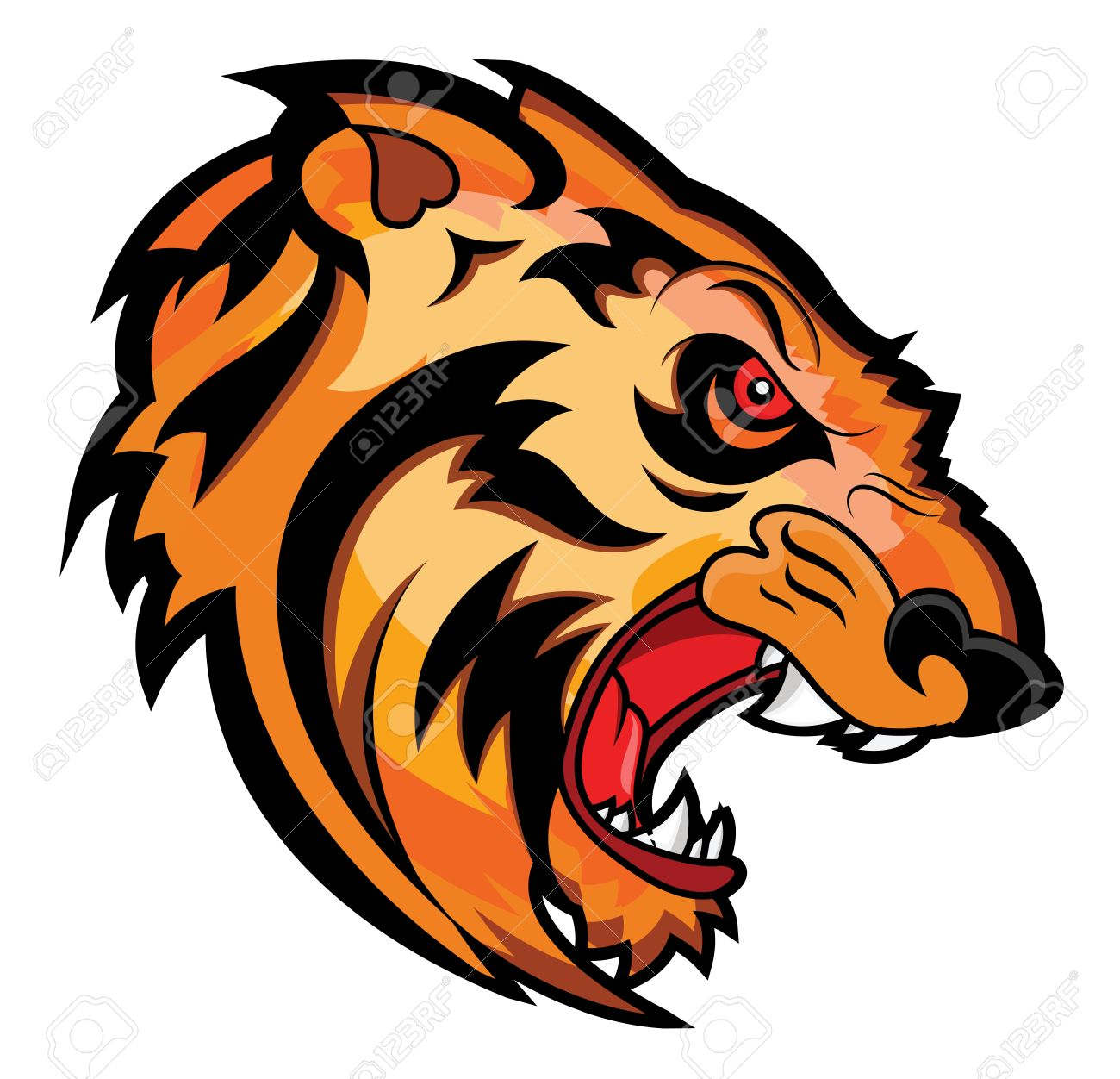 1300x1252 Drawn Tiger Angry Lion Face