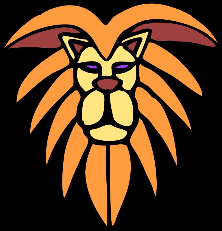 768x800 Front View Lion Face Clipart