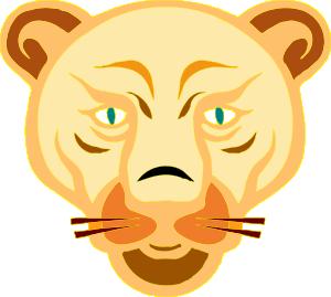 300x269 Lion Face Cartoon Clip Art