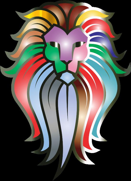 549x758 Lion Face Clipart