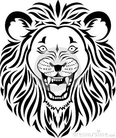 379x450 Lion Face Roar Clipart