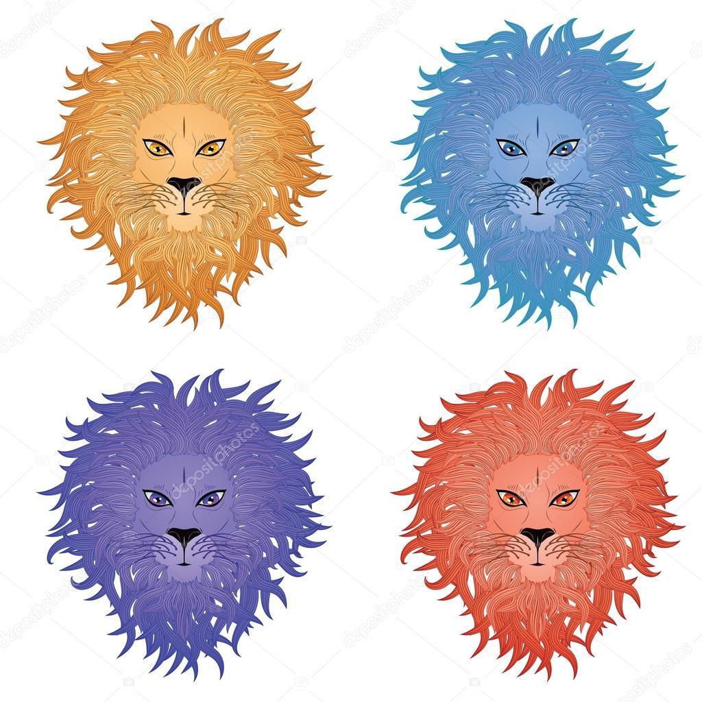 1024x1024 Lion Face Stock Vector Artshock