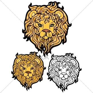 325x325 Male Lion Face Close Gl Stock Images